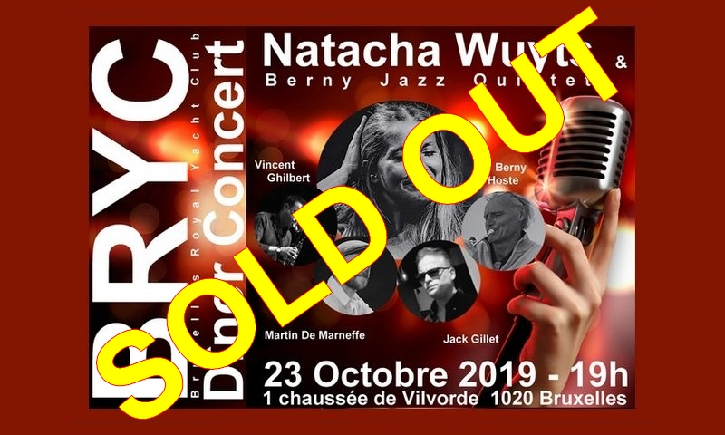 BRYC-23-Oct2019-Sold-OUT Bruxelles Royal Yacht Club - Dîner Concert avec Natacha Wuyts & Berny Jazz Quintet