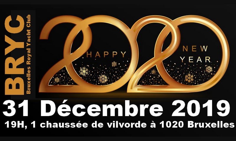 BRYC-NewYear Bruxelles Royal Yacht Club - Happy New Year 2020 !
